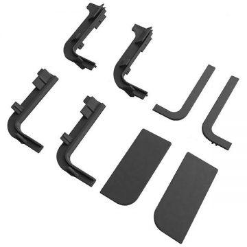 Комплект соединителей и торцевых заглушек Г-образного профиля FRM9200 Gola FIRMAX(8частей), пластик, черный