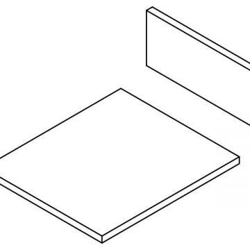 Комплект ЛДСП для ящика FIRMAX SLIMLINE, ширина корпуса 400мм H=185