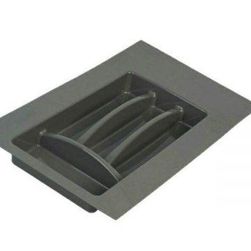 Лоток для столовых приборов Firmax, база 300-350 мм, антрацит