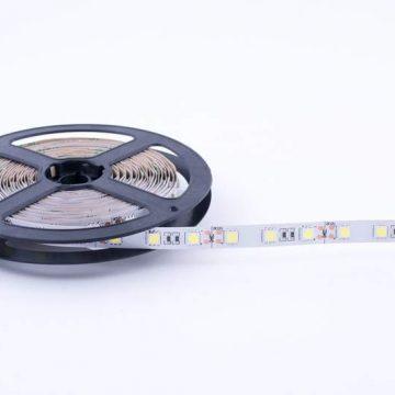 Лента светодиодная 5050/60, 12V, 5м, нейтральный белый 4000К, IP20, 14.4W/м