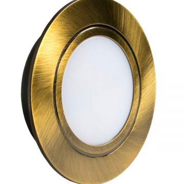 POLUS LED светильник точечный врезной, античная бронза, 220V, теплый белый 3000K, 160Lm, 4W