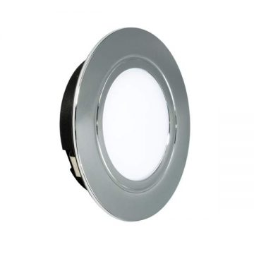 POLUS LED светильник точечный врезной, хром, 220V, нейтральный белый 4000K, 160Lm, 4W