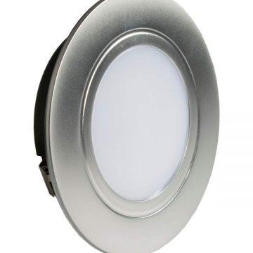POLUS LED светильник точечный врезной, хром матовый, 220V, нейтральный белый 4000K, 160Lm, 4W