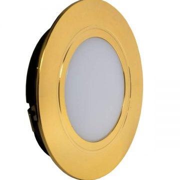 POLUS LED светильник точечный врезной, золото, 220V, теплый белый 3000K, 160Lm, 4W