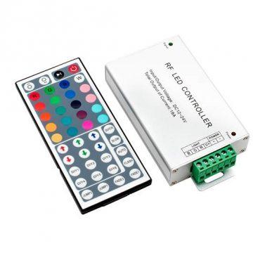 Контроллер с пультом для RGB ленты, 44 кнопки, 12/24V, 18A, 216/432W
