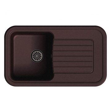 Мойка врезная EW-A60F, цвет шоколад, кварц (+сифон)