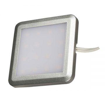 PALIS-18 LED светильник накладной квадратный, серебристый, 12V, нейтральный белый 4000K, 110Lm, 1.3W