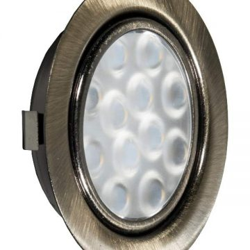 REPLIS-1 LED светильник врезной круглый, античная бронза, 12V, теплый белый 3000K, 220Lm, 3W