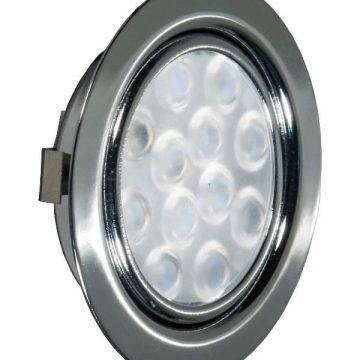 REPLIS-1 LED светильник врезной круглый, хром, 12V, нейтральный белый 5000K, 220Lm, 3W