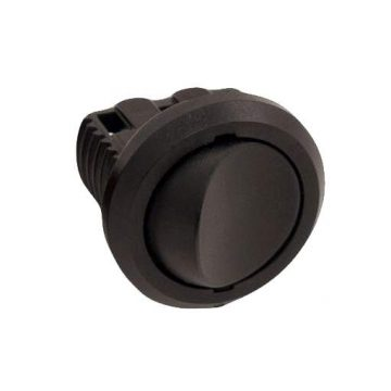 Выключатель врезной кнопочный, черный, D-27мм, 5А