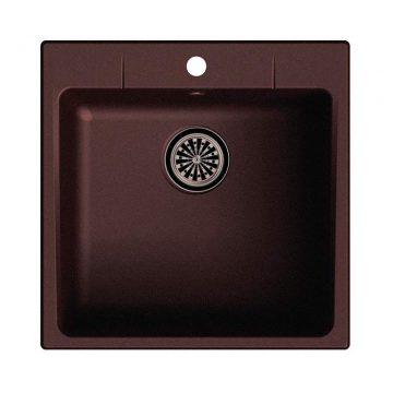 Мойка врезная EW-G50, цвет шоколад, кварц (+сифон)