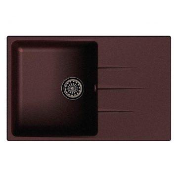 Мойка врезная EW-G60F, цвет шоколад, кварц (+сифон)