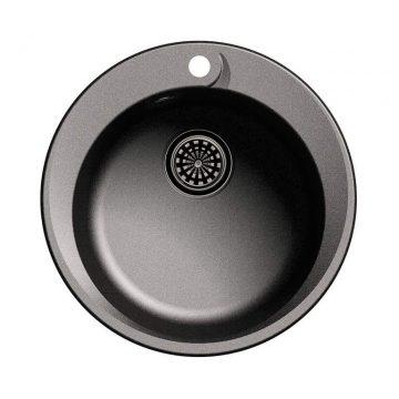 Мойка врезная EW-R45, цвет черный, кварц (+сифон)