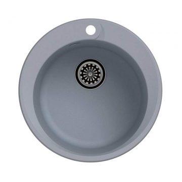 Мойка врезная EW-R45, цвет серый металлик, кварц (+сифон)