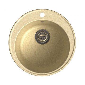 Мойка врезная GF-QUARZ (Z08) D=480 мм, цвет бежевый, кварц