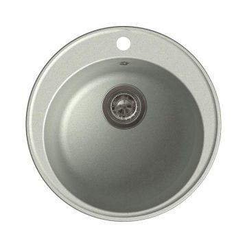 Мойка врезная GF-QUARZ (Z08) D=480 мм, цвет серый, кварц