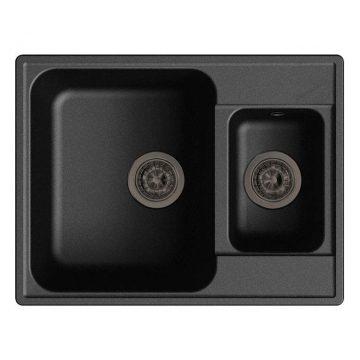 Мойка врезная GF-QUARZ (Z09) 62х48см, цвет черный, кварц