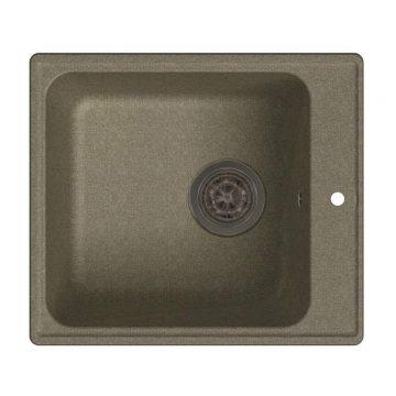 Мойка врезная GF-QUARZ (Z17) 42х48см, цвет песочный, кварц