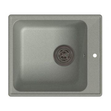 Мойка врезная GF-QUARZ (Z17) 42х48см, цвет серый, кварц