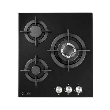 Варочная панель газовая GVG 430 BL, ширина 450 мм, черный