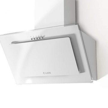 Вытяжка наклонная MIKA G 500 WHITE, ширина 500 мм, белое стекло