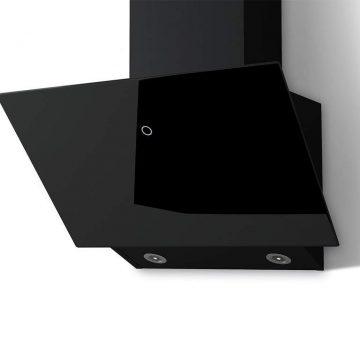 Вытяжка наклонная TOUCH 600 BLACK, ширина 600 мм, черное стекло