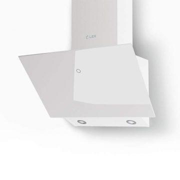 Вытяжка наклонная TOUCH 600 WHITE, ширина 600 мм, белое стекло