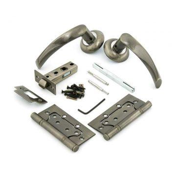 Комплект для двери Фабрика замков FZ SET 03-C 100 2H, античная бронза