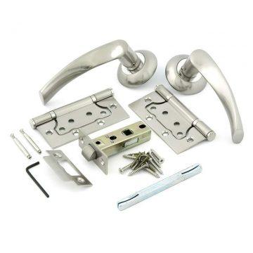 Комплект для двери Фабрика замков FZ SET 03-C 100 2H, матовый никель
