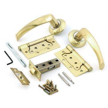 Комплект для двери Фабрика замков FZ SET 03-C 100 2H, матовое золото