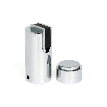 Ограничитель дверной магнитный напольный и настенный 05, хром