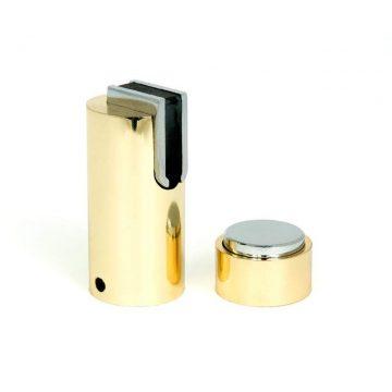 Ограничитель дверной магнитный напольный и настенный 05, латунь