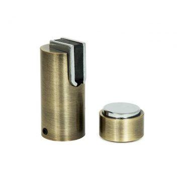 Ограничитель дверной магнитный напольный и настенный 05, старая бронза