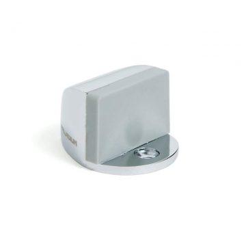 Ограничитель дверной с резиновым амортизатором 01, хром