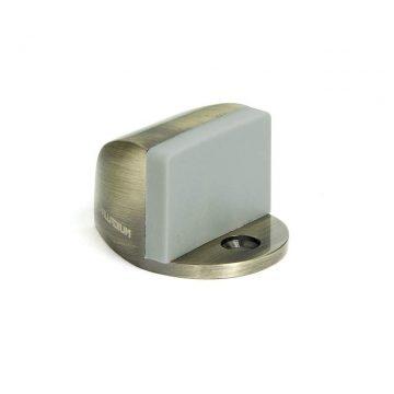 Ограничитель дверной с резиновым амортизатором 01, старая бронза