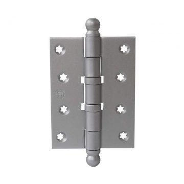 Петля карточная, универсальная 101х76х3 мм для дверей до 65 кг, с круглой пешкой, хром матовый