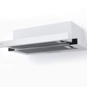 Вытяжка встраиваемая HUBBLE 600 WHITE, ширина 600 мм, белый