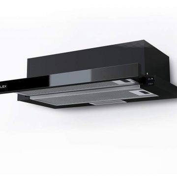 Вытяжка встраиваемая HUBBLE G 600 BLACK, ширина 600 мм, черное стекло
