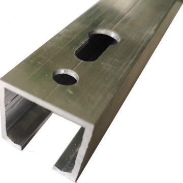 Направляющая верхняя для раздвижных дверей, длина 2 м, алюминий, неокрашенный