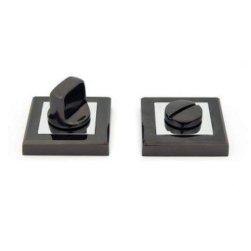 Завертка сантехническая, квадрат, серия Revolution, черный никель/хром