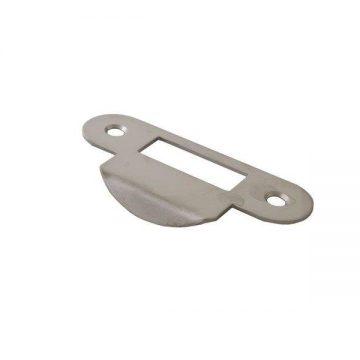 Планка ответная для дверей без наплава, шириной 22мм,универсальная, никель матовы