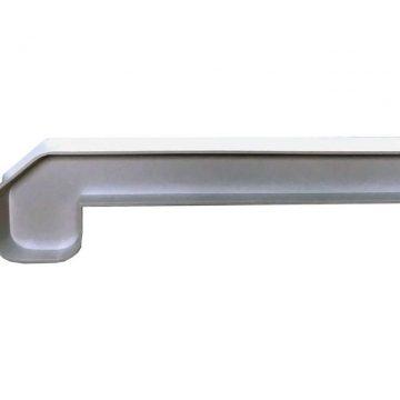 Заглушка стыковочная 135/180 градусов для подоконника Люкс белая 610 мм