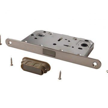 Замок магнитный MAXBAR с ответной планкой, 50x96x18, для сантехнических узлов , никель матовый