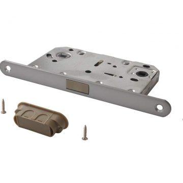 Замок магнитный MAXBAR с ответной планкой, 50/96/18, для сантехнических узлов , хром матовый