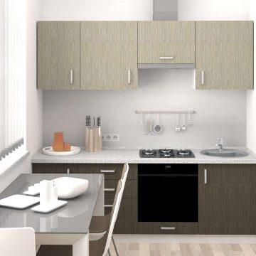 Кухня прямая, AGT матовый, светло-серый/темно-серый