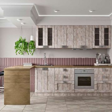 Кухня прямая, Alvic/SYNCRON матовый, дымчато-серый