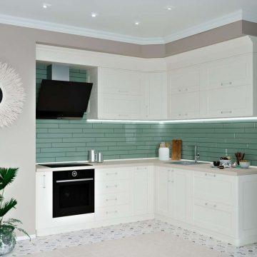 Кухня угловая, Alvic матовый, белый