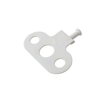 Металлический держатель ограничителя открывания (зацеп 16 мм.), белый