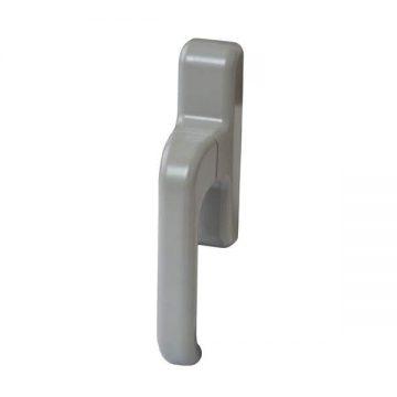 Ручка оконная с блокиратором Giesse EURO E-line для алюминиевого окна, серебро