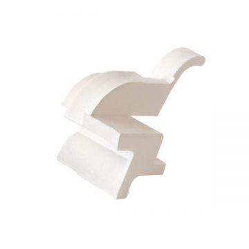 Накладка торцевая АЛЮСТАРТ (D22/20), правая, белая